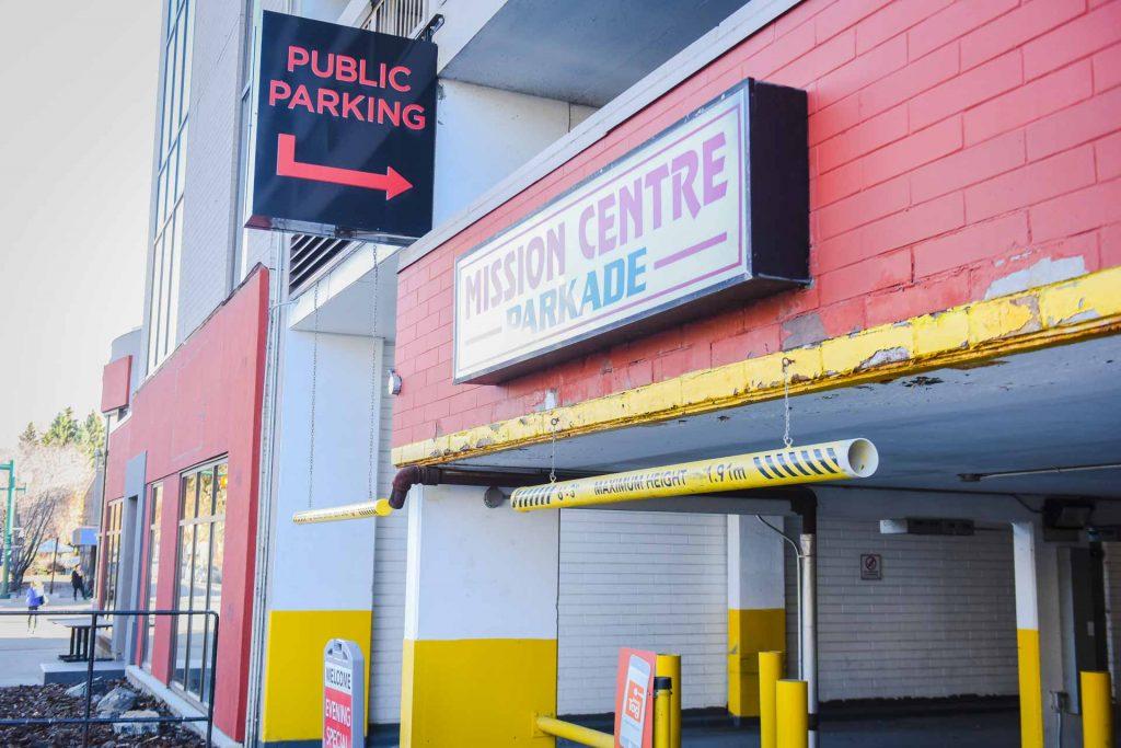Mission Centre Parkade Entrance | Key Prosthodontics | Calgary and Surrounding Area | Prosthodontic Specialist